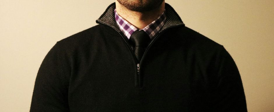 black-half-zip-with-purple-gingham