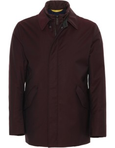 Bordeaux Super 150s Wool Waterproof Car Coat 2
